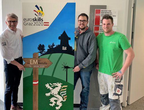 Neues EuroSkills-2020-Kunstwerk bereichert WKO Steiermark