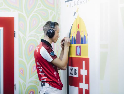 Farbenfrohe Unterstützung für die Maler-Talente bei EuroSkills 2020